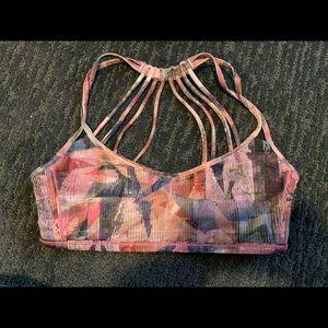 Lululemon Pink patterned Sports Bra